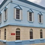 Exterior of the D&C Building which is office space for rent in barbados