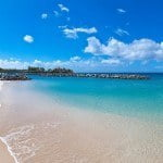 Gorgeous beach and ocean at Port Ferdinand which are luxury marina residences for sale in Barbados