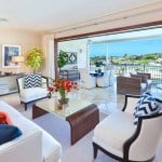 Home 301 Open plan Living and Terrace Dining at Port Ferdinand which are luxury marina residences for sale in Barbados
