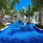 Pool at Port Ferdinand which are luxury marina residences for sale in Barbados