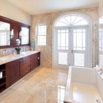 Home 504 Master bathroom at Port Ferdinand which are luxury marina residences for sale in Barbados