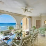 Luxury Beachfront Home - Terrace Dining at Saint Peter's Bay which are luxury residences in Barbados for sale