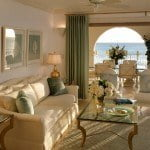 Luxury Penthouse Living room & Terrace at Saint Peter's Bay which are luxury residences in Barbados for sale