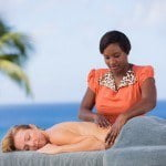 Relaxing massage at Saint Peter's Bay which are luxury residences in Barbados for sale