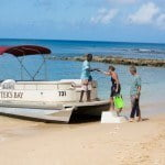 Water Taxi at Saint Peter's Bay which are luxury residences in Barbados for sale
