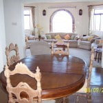 Dining room of Champaign which is a large property for sale in Barbados