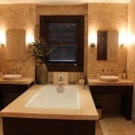 Bathroom at Sandy Cove 101 which is a luxury beachfront apartment for sale in Barbados on the West coast