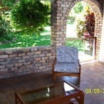 Wet bar and Patio of Champaign which is a large property for sale in Barbados