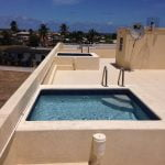 Two roof deck plunge pools