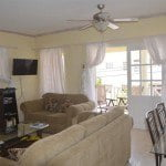 Living room of 8 Coral Haven which is a beautiful short term rental in Barbados