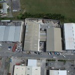 Aerial view of commercial property at Webster Industrial Park for sale in Barbados