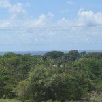View from the elevated lot of land in Silver Hill for sale in Barbados